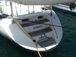 Hylas 49 stern