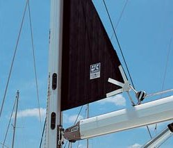 In-mast furling stows the mainsail inside the mast.