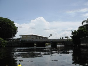 Shown is the northside of the Sunrise Key entrace bridge.