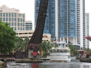 The Florida East Coast Railroad Bridge in downtown Fort Lauderdale
