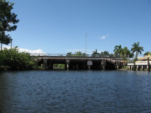 Broward Bridge terminates the North Fork and abuts Argyle apartments.