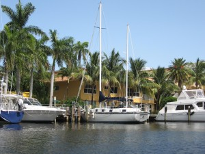 Boats docked along Hendricks Isle.  What a nice Bruce Roberts, Mylinda B!