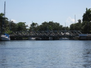 The 11th Ave swing bridge is a historic landmark of the New River.