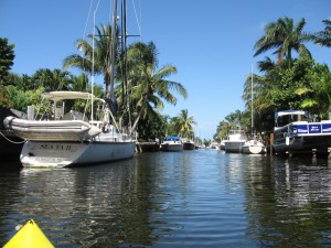 Sailboats and motoryachts line the docks of the Citris Isles