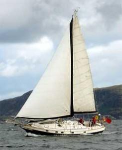 A Kadey Krogen 38 Under Sail