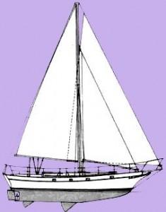 Kadey Krogen 38 Sail Plan