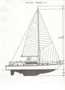 The clearance and draft are short on the 47 Sailmaster Sailplan