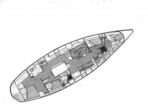 Gulfstar 60 Mark I Layout