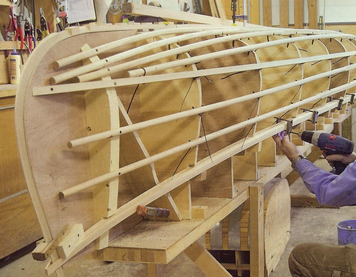 Boat building planking plans easy