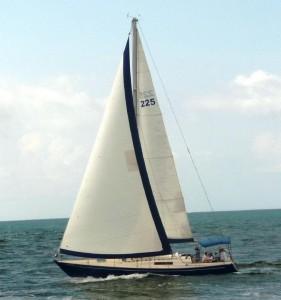 44 C&C Empty Nest sailing