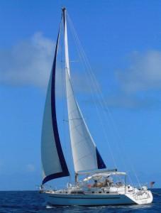 44 Beneteau Islander sailing